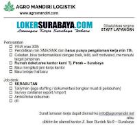 Lowongan Kerja Surabaya di Agro Mandiri Logistik November 2020