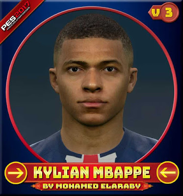 PES17 Kylian Mbappé Face by M.Elaraby Facemaker