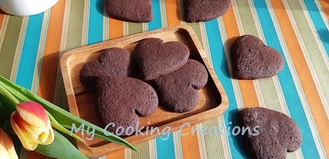 """Шоколадови бисквити """"Туптящи сърца"""""""