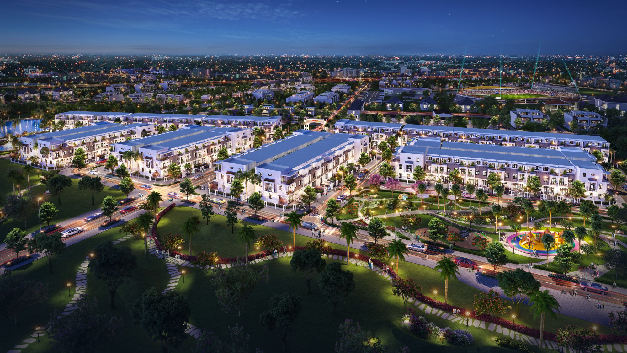 Phối cảnh khu đô thị thông minh Thành Đô - khu đô thị mới của quận Ô Môn