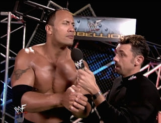 WWE / WWF Rebellion 2001 - Michael Cole interviews The Rock