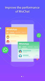 aplikasi mo chat berguna untuk menjalankan dua whatsapp dalam satu hp