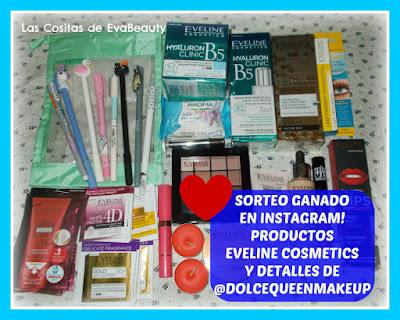Sorteo ganado instagram Dolcequeenmakeup y Eveline Cosmetics belleza y maquillaje