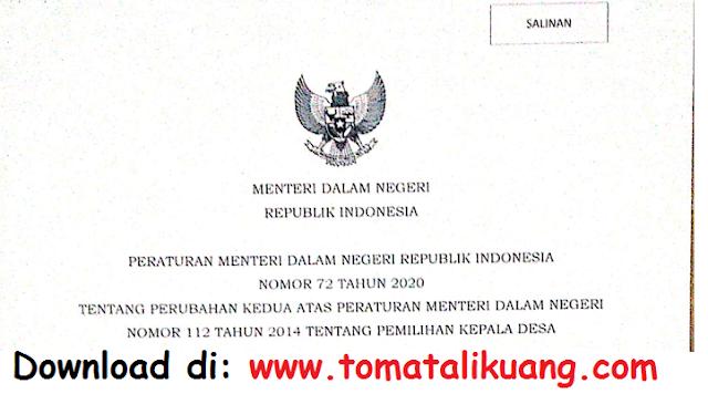 permendagri nomor 72 tahun 2020 tentang perubahan permendagri nomor 112 tahun 2014 tentang [emilihan kepala desa pdf tomatalikuang.com