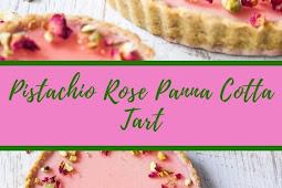 Pistachio Rose Panna Cotta Tart