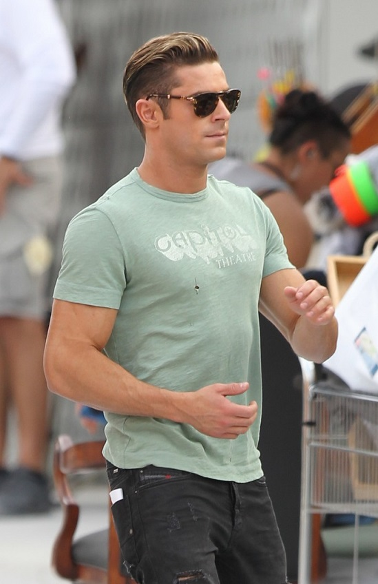 Out Loud: Zac Efron On The Set of 'Baywatch' in Miami