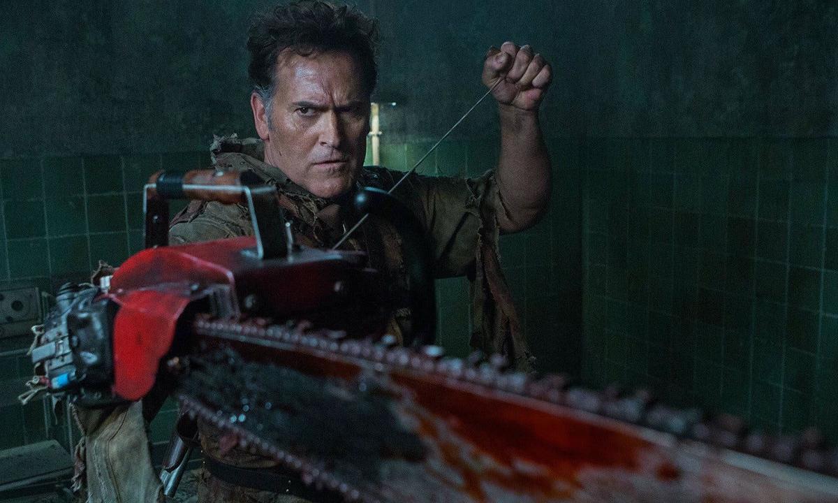 Fotografía de Bruce Campbell en Ash vs. Evil Dead