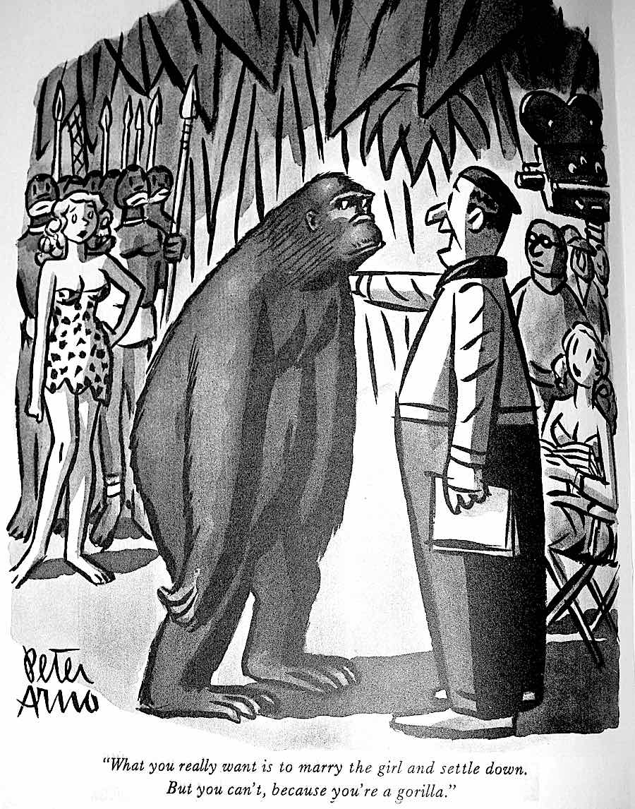 a Peter Arno cartoon about hollywood jungle movies