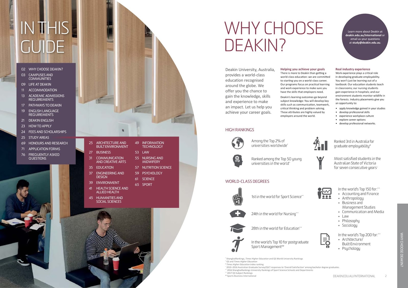 Why Choose Deakin University | Educoach Indonesia