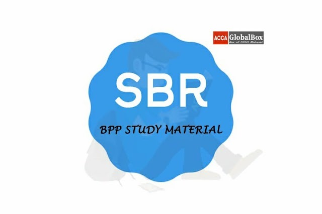 SBR - 2020 | Strategic Business Reporting | BPP - TEXT and KIT