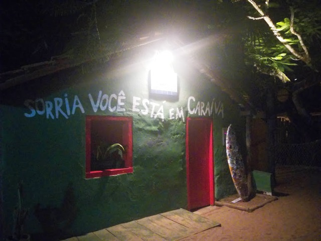 A classica foto de Caraíva, na madrugada, sem tumulto