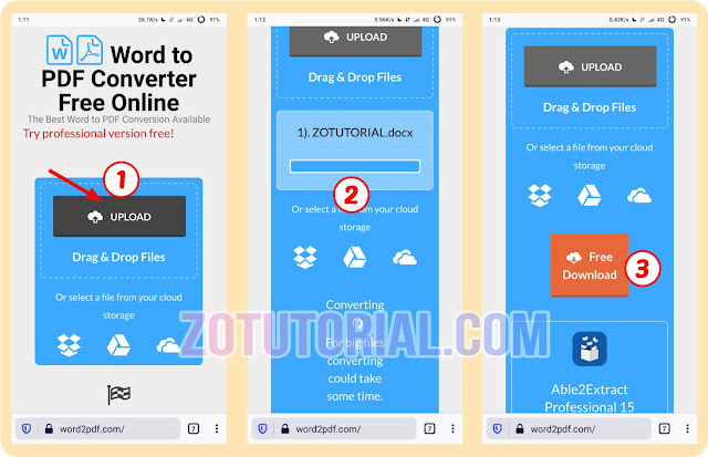2 Cara Mengubah Word Ke PDF di HP Tanpa Aplikasi dan Pakai App