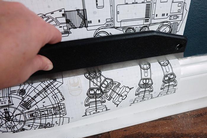 wallpaper smoother at baseboard