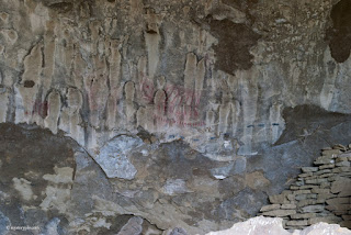 A view of the main cavern with rock paintings