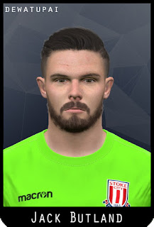 PES 2017 Faces Jack Butland by Dewatupai