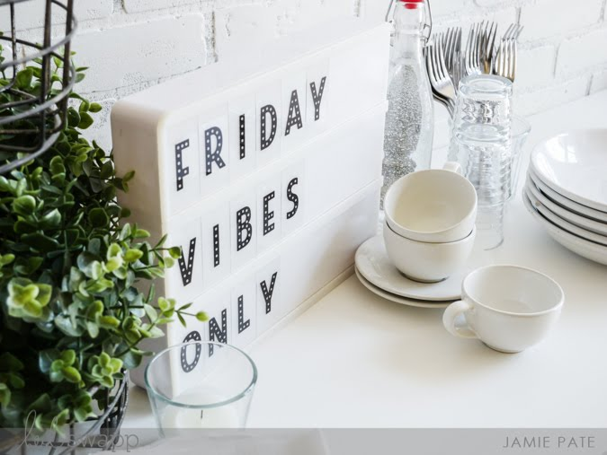 Heidi Swapp Lightbox Celebrates Friday by Jamie Pate | @jamiepate for @heidiswapp
