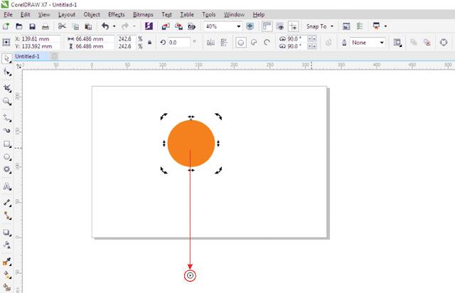 Cara Membuat Objek Melingkar di Corel Draw