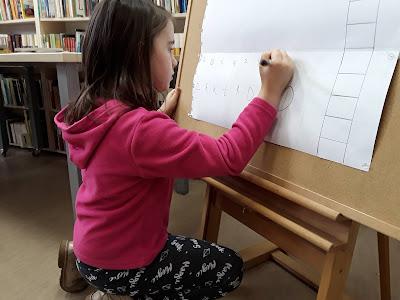Dzieci ze szkoły podstawowej w bibliotece; porównanie biblioteki szkolnej z biblioteką publiczną