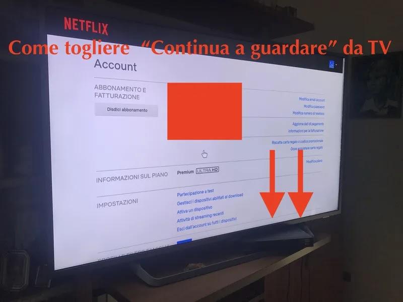 come togliere continua a guardare netflix da tv