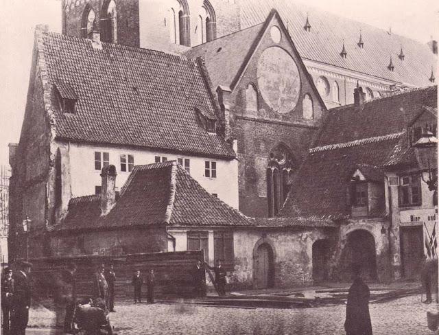 1880-е годы. Рига. Площадь Гердера и Домский собор.