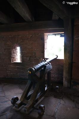Uno dei cannoni del Grande Bastione al Castello di Haut Koenigsbourg
