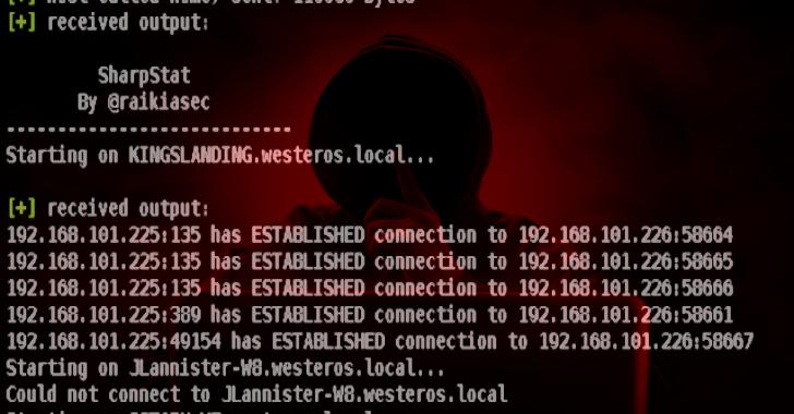 SharpStat : C# Utility That Uses WMI To Run CMD