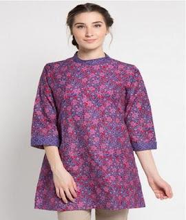 model baju batik atasan wanita dewasa