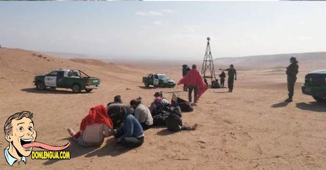 18 venezolanos qrefugiados fueron rescatados en un desierto de Chile