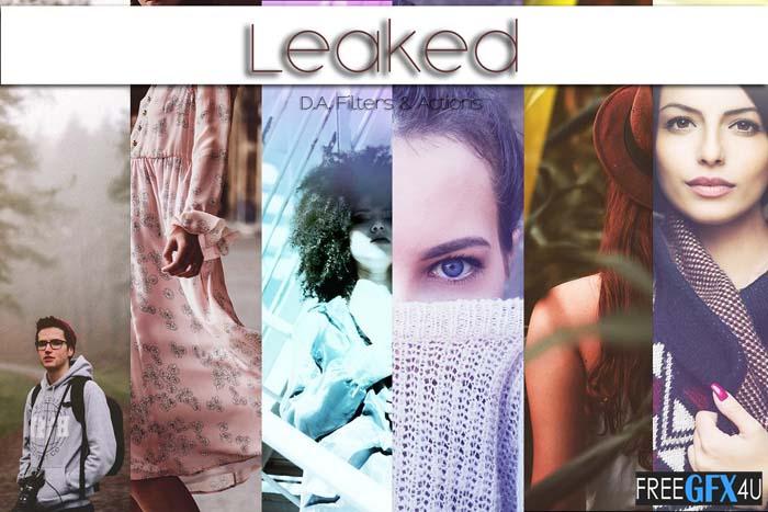Leaked - Light Leak Photoshop Action