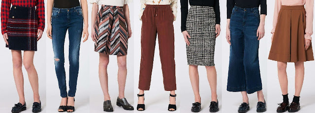 gonne e pantaloni nella collezione moda donna Pennyblack autunno-inverno 2016/17