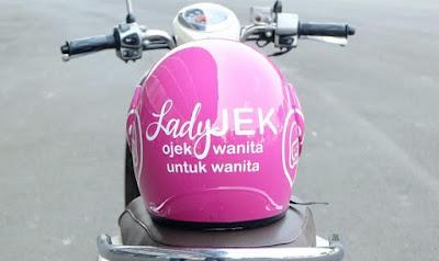 ojek ladyjek, oleh wanita untuk wanita, ojek online baru