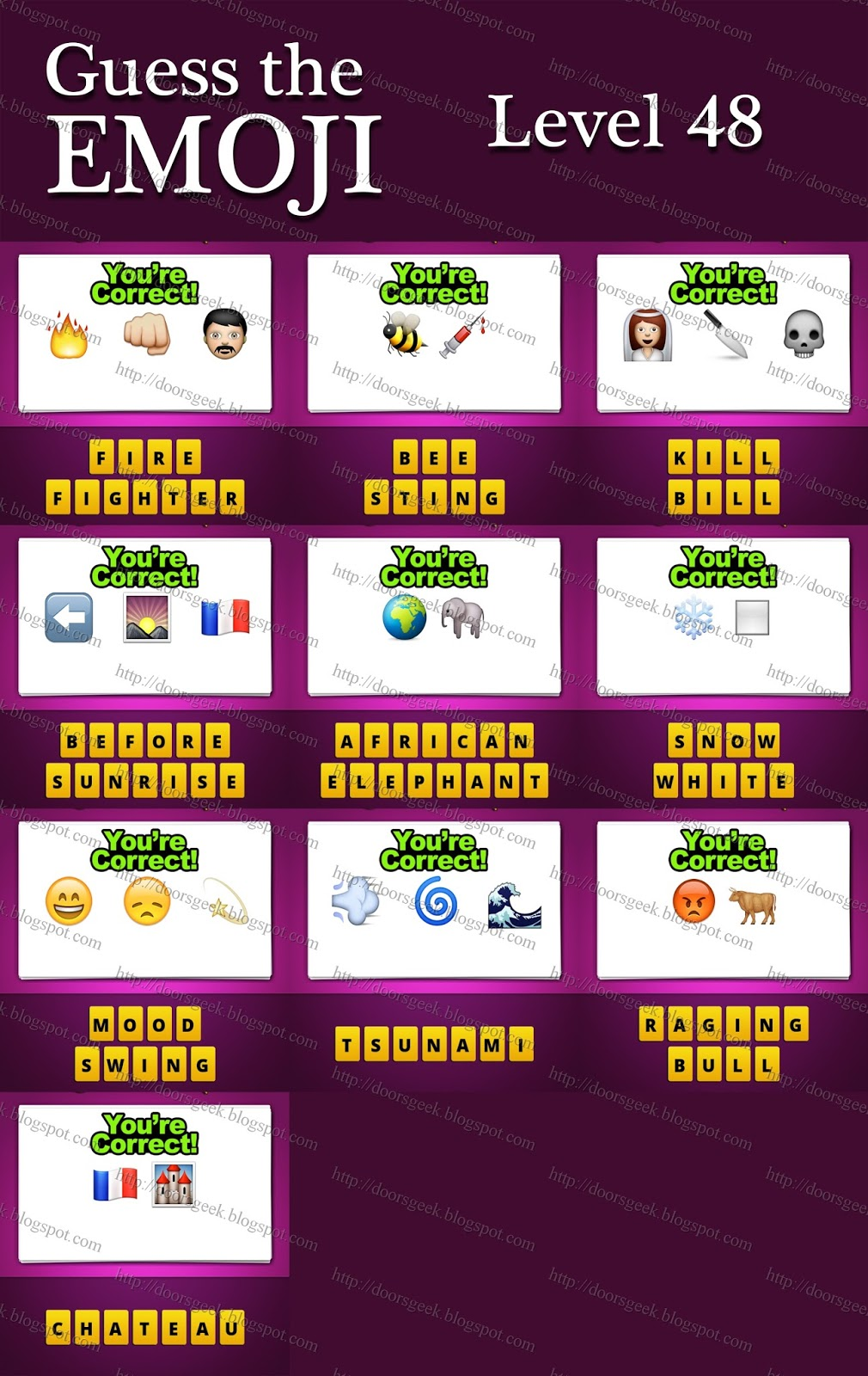 Guess The Emoji Level 48 Answers And Cheats Doors Geek