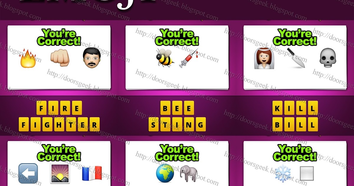 Guess The Emoji [Level 48] Answers and Cheats ~ Doors Geek