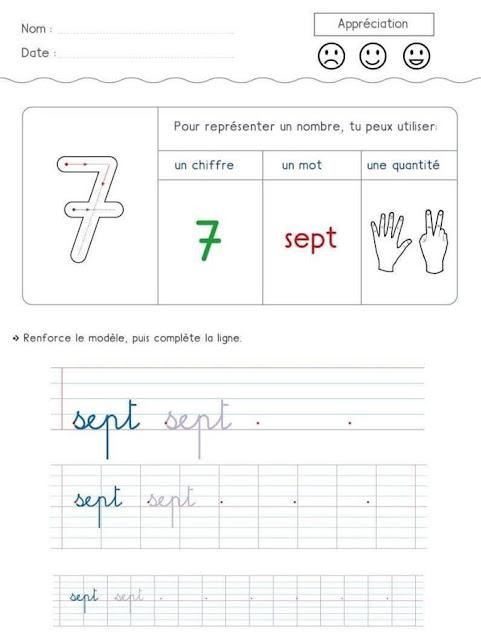 الارقام بالفرنسية للاطفال