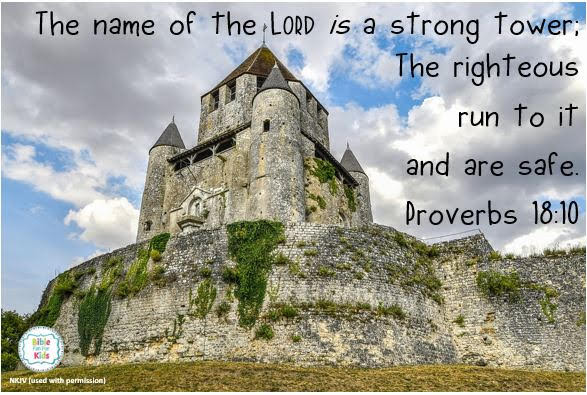 https://www.biblefunforkids.com/2021/01/the-Lord-is-strong-tower.html