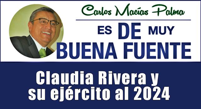 Claudia Rivera y su ejército al 2024