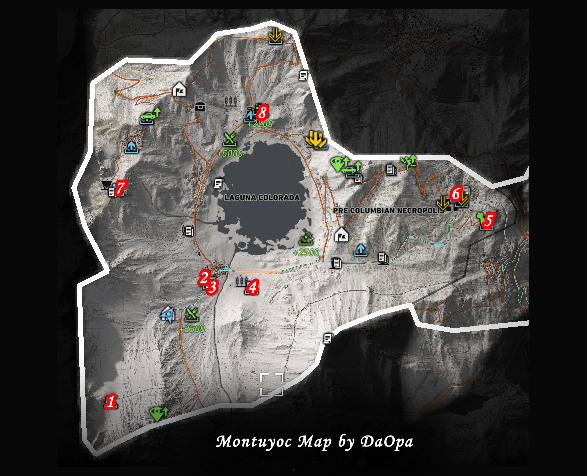 Ghost Recon Wildlands Karte.Ghost Recon Wildlands Montuyoc Map
