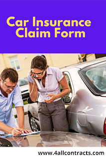Car Insurance Claim templates forms examples