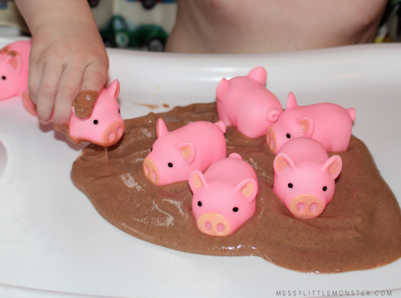 Edible mud sensory play for toddlers and babies