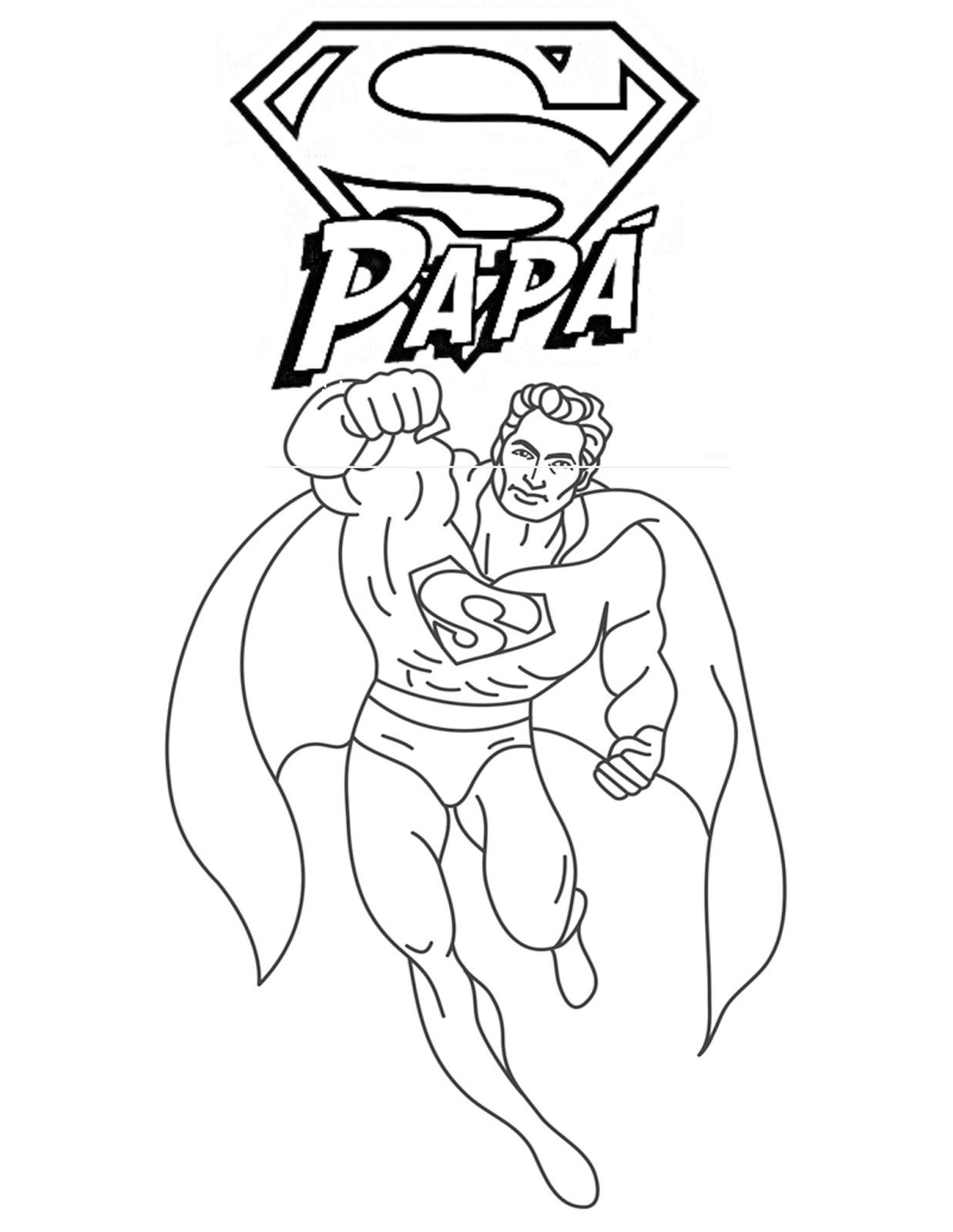 Pinto Dibujos Dibujos De Super Papa Para Colorear Del Dia
