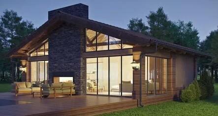 houses with panoramic windows
