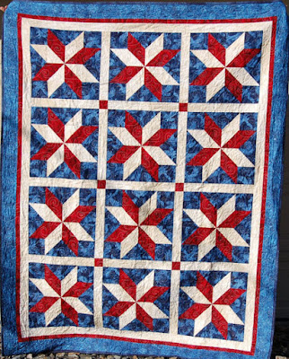 Yankee Doodle Stars quilt
