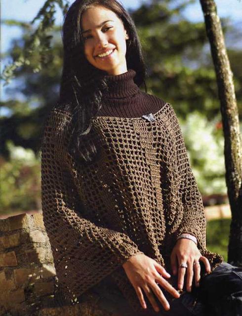 Poncho Crochet-Tricot Patron