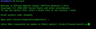 making offline copy of a website