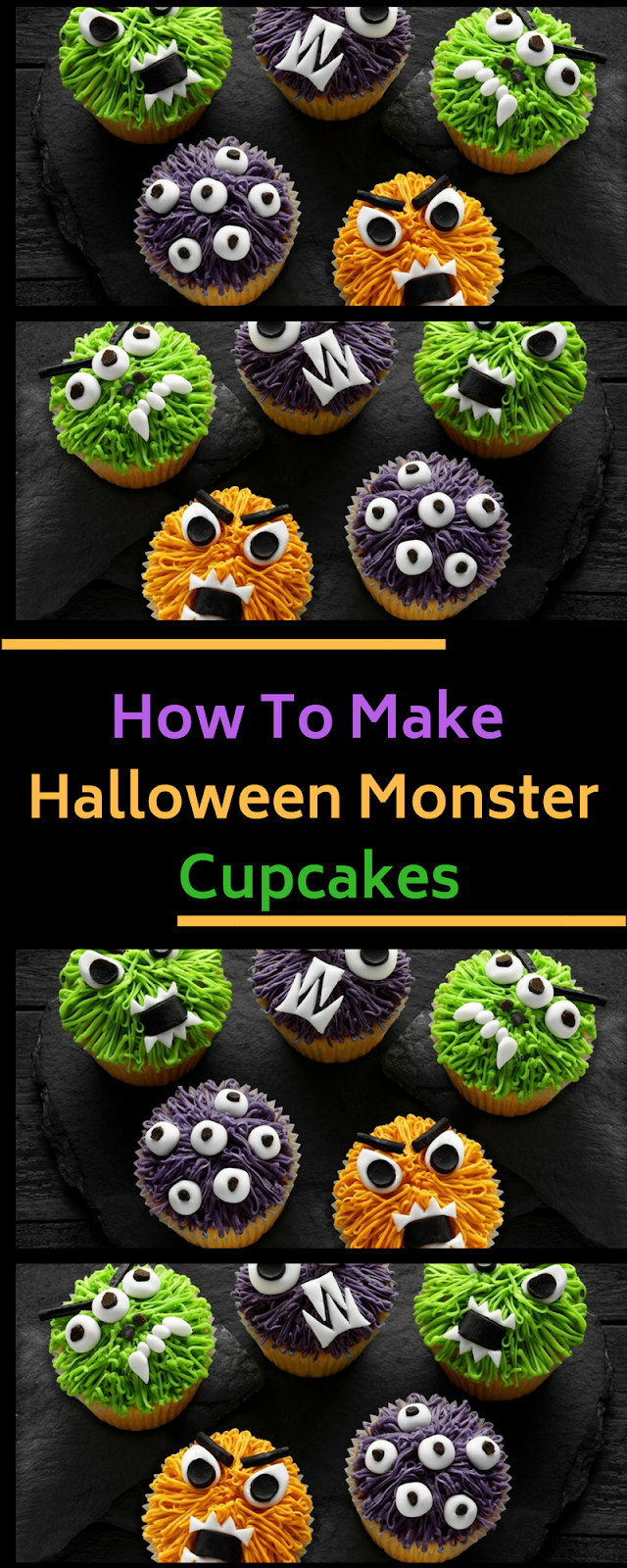 How To Make Halloween Monster Cupcakes