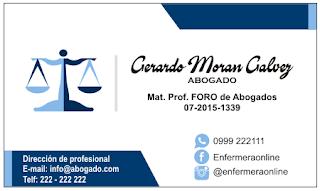 Diseños de tarjetas de presentación para abogado