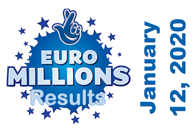 EuroMillions Draw Result for Tuesday, January 12, 2021