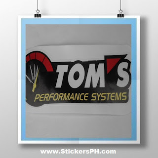 Die-Cut Vehicle Vinyl Sticker - Tom's Performance System