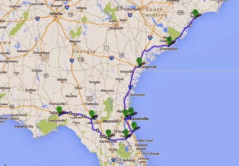 Greenville Florida Map.Cycling4adventure Tallahassee Florida