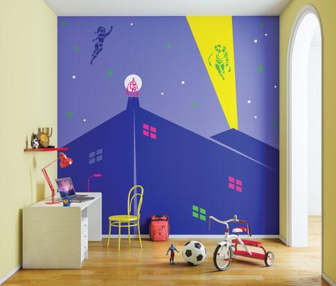 لون حائط لغرفة نوم الاطفال